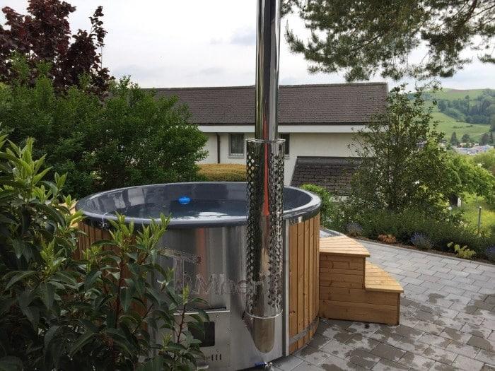 glasfiber badtunna med intern värmare Wellness Royal modell