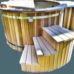 Badtunna i plast cederträ